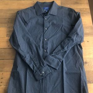 Patterned Long Sleeve Button Up